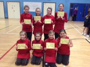 The winning team from Howe Green school